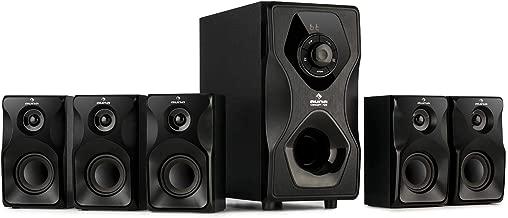 auna Concept 720 - Sistema de Altavoces 5.1 , Sistema de Audio Envolvente Activo , Subwoofer OneSide 6,5
