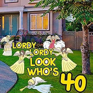 VictoryStore Yard Decorations: Birthday Yard Cards, Lordy Lordy Look Who's 40 Yard Decorations with Stakes