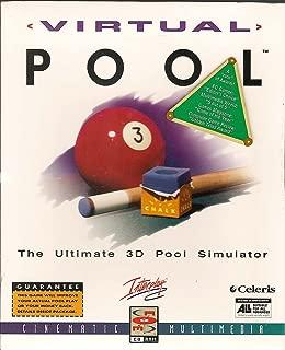 Virtual Pool, The Ultimate 3D Pool Simulator, 1995, Celeris Cinematic Multimedia Interplay