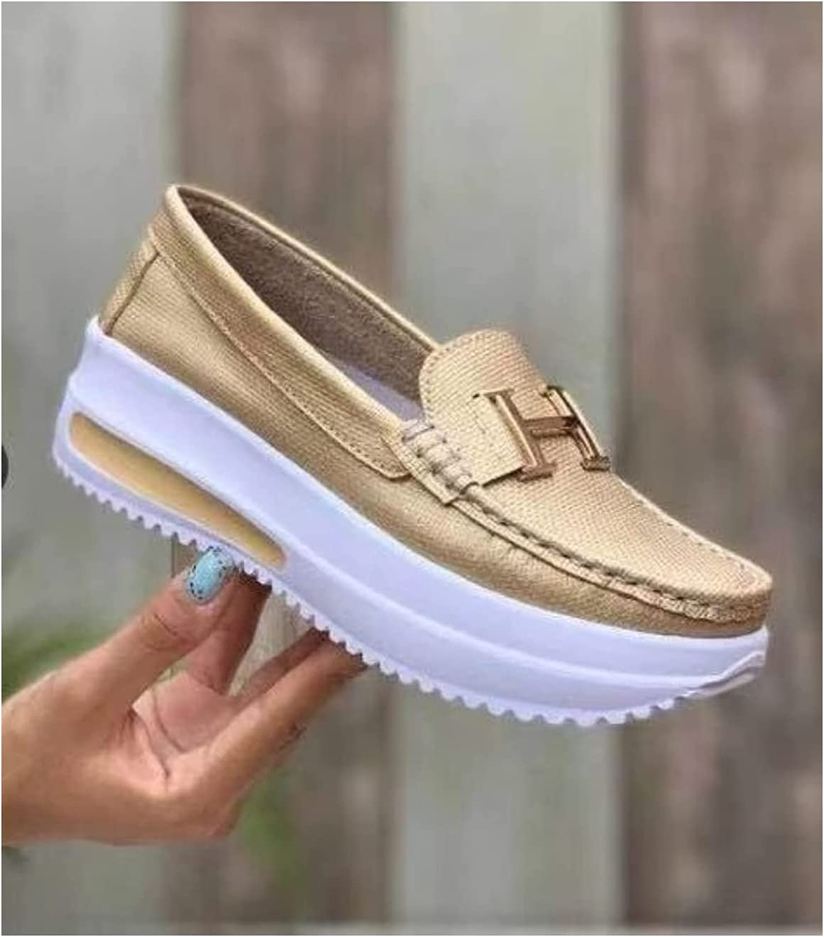 half Women Slip On shopping Loafers Breathable Non-S Shoes Casual Walking Flat