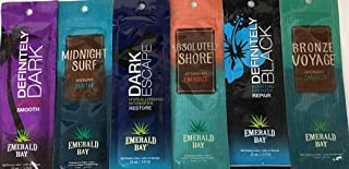 Lot of 6 Different Emerald Bay Tanning Lotion Packets