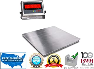 """5`x5` (60""""x60"""") Stainless Steel Floor Scale & Indicator 