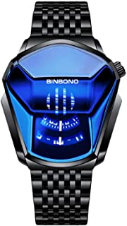 RORIOS Moda Hombre Relojes Analógico Cuarzo Reloj de Acero Inoxidable Deportivo Relojes de Pulsera Casual Impermeable Relo...