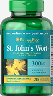 Puritans Pride St. John's Wort Standardized Extract 300 Mg, 200 Count