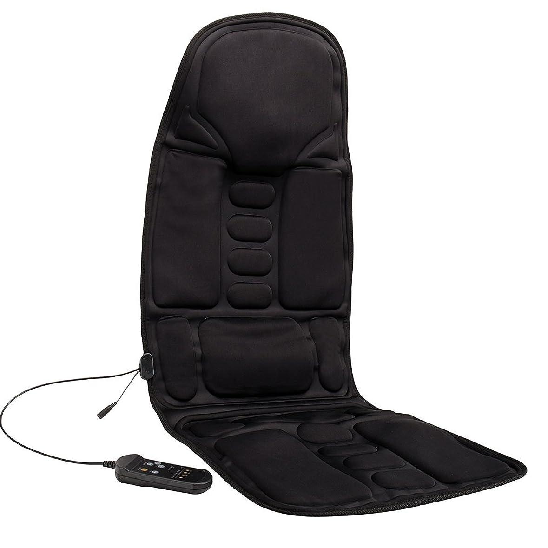 欺骨直感Kindness マッサージシート ヒーター搭載 高品質PUレザー製 どこでもマッサージャー オフィス 旅行 ホーム 車シート ギフト ブラック