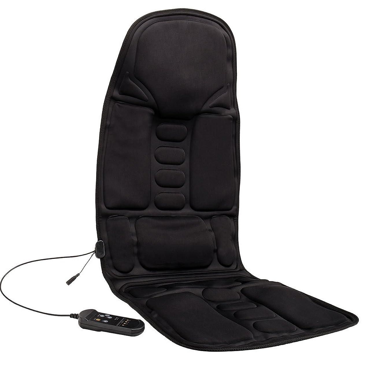 学生排気回復するKindness マッサージシート ヒーター搭載 高品質PUレザー製 どこでもマッサージャー オフィス 旅行 ホーム 車シート ギフト ブラック