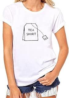 CUCUHAM Women Girls Plus Size Print Tees Shirt Short Sleeve T Shirt Blouse Tops