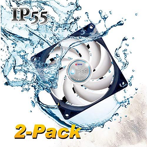 TITAN - Ventilador de refrigeración de caja impermeable IP55 de 12 V CC (2 paquetes)