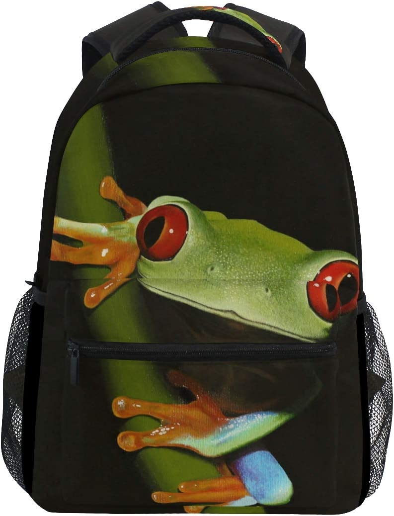 Brighter Red-Eyed Tree Frog Backpack Students Bags Shoulder Animer and price Shipping included revision Trav