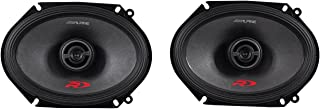 Alpine Spr-68 6 x 8 Inch 2 Way Pair of Car Speakers Totalling 600 Watts Peak / 200 Watts RMS