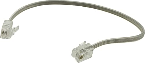 Power Gear Phone Line Cord, 8 Inch Phone Cord, Modular Jack Ends, Works for Phone, Modem or Fax Machine, For Use in Home or Office, Gray, 76114