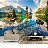 Djskhf カスタム任意のサイズ3D壁壁画壁紙現代ファッション山高山流れる水壁ステッカー 240X165Cm