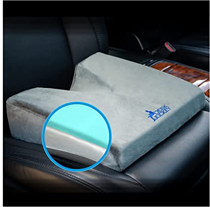 Desk Jockey Car Seat Memory Foam Wedge Tailbone Cushion