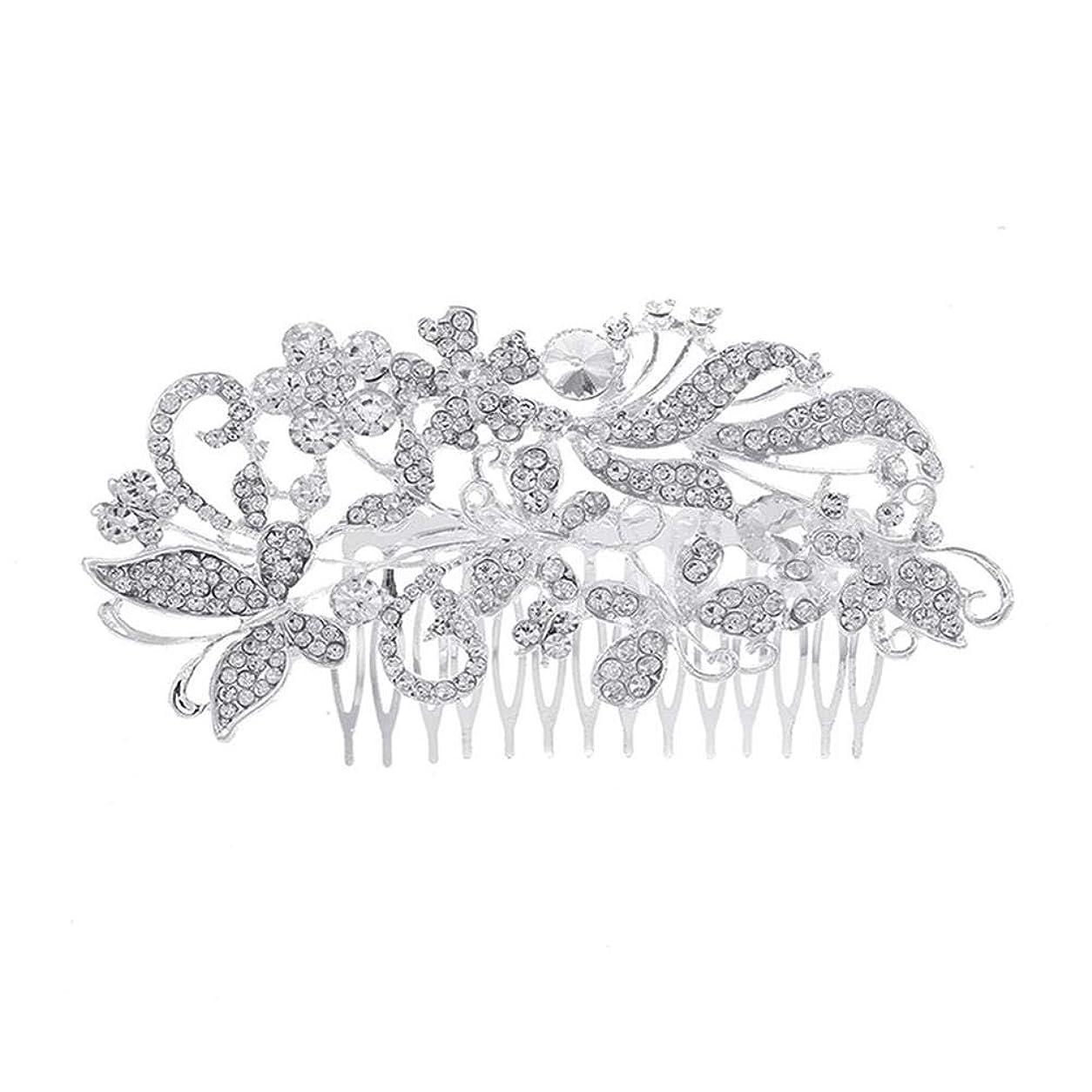遺伝的列挙するピルファー髪の櫛、櫛、花嫁の髪の櫛、亜鉛合金、結婚式のアクセサリー、櫛