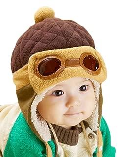Gorra de invierno unisex para niños, de WITERY, gorra cálido, diseño de piloto de aviones