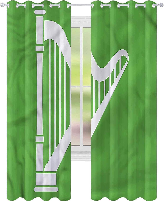 Portland Mall Blackout Window Curtain Harp Tampa Mall Stringed x Classic L Instrument W52