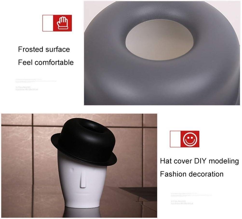 Dise/ño de Forma Creativa Personalizado y pr/áctico Color : Gray LMM Home Contenedor de Basura Papelera Sala de Estar Dormitorio Oficina Escritorio Caja de Almacenamiento de Basura