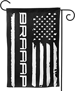 JIAQIO-HB USA Flag Braaap Motocross Dirt Bike Double-Sided Decorative Garden Flag - 12.5