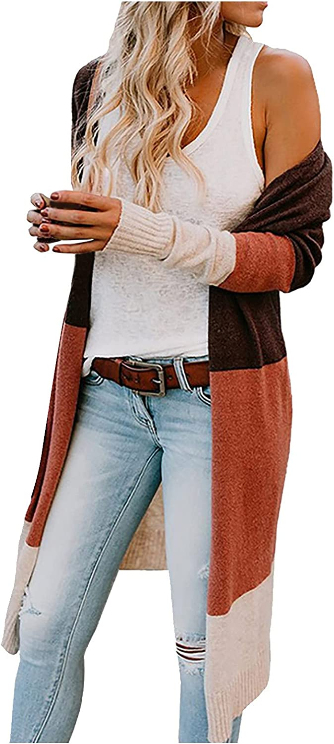Women's Sweater Cardigans New Long Open Front Sweaters Coat Casual All-Match Comfortable Oversize Cardigans