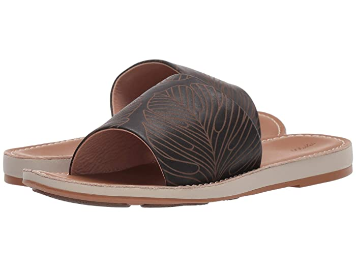 Nohie 'Olu  Shoes (Black Monstera/Tan) Women's Shoes
