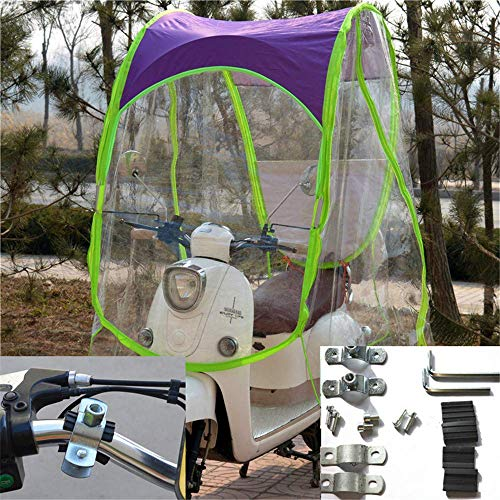Fundas para motos Motocicleta eléctrica y bicicletas eléctricas parasol cubierta impermeable a...