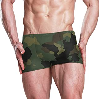 Military Camo Camouflage Pattern Print Men's Swim Trunks Swimming Briefs Beach Shorts Boxer