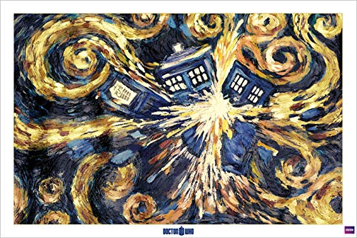 Doctor Who 'Explodierende Tardis' Maxi Poster, 61 x 91.5 cm Mehrfarbig