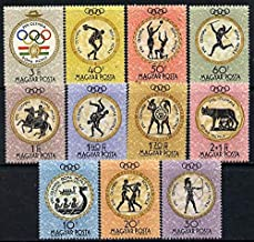 Hungary 1960 Rome Summer Olympic Games perf set of 11 u/m, Mi 1686-96 OLYMPICS SPORT JAVELIN HORSES ANCIENT GREECE ARCHERY DUSCUS BOXING WRESTLING WOLVES JandRStamps
