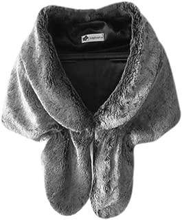 fur trimmed shawl uk