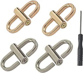 Adjustable Metal Buckle for Shoulder Chain Strap Women Bag Length Shorten Purse Chain Adjuster Metal Clip Accessories 4pcs (Rose Gold, Silver, Big)