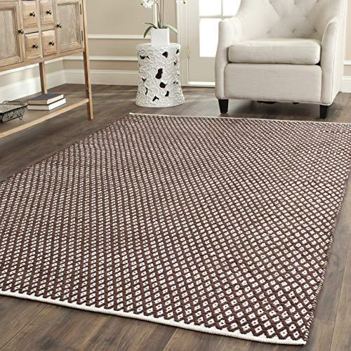 Safavieh Nantucket handgetufteter Teppich, BOS685A, Braun, 152 X 243  cm