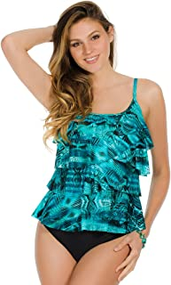 Miraclesuit Womens Short Circuit Tiering Up Top
