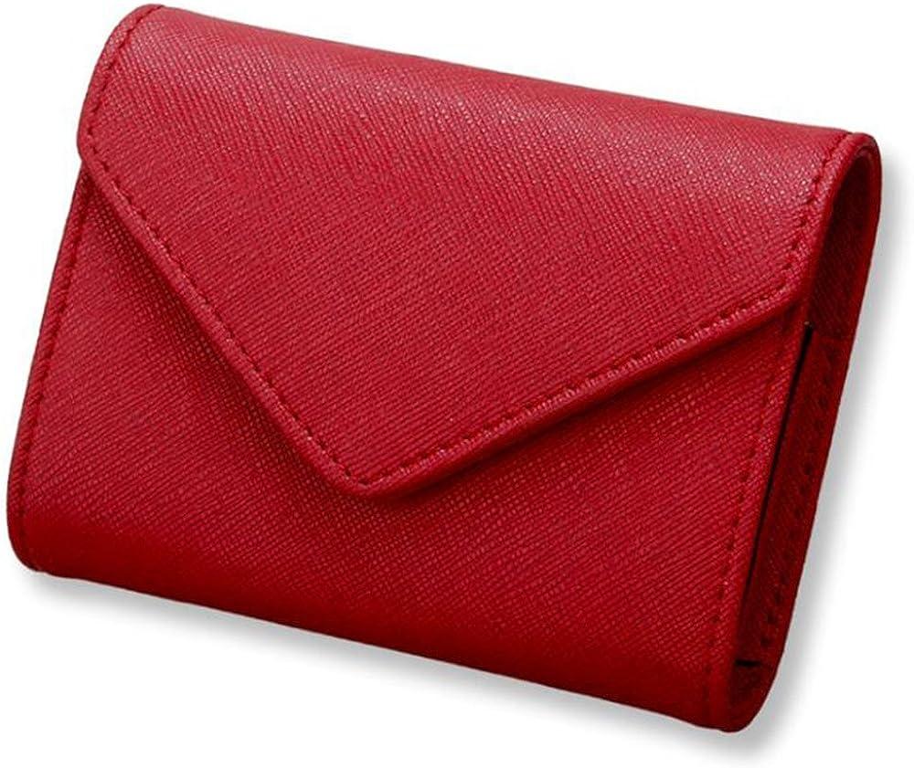 Aprinctempsd, portafoglio, porta carte di credito, in pelle , protezione rfid