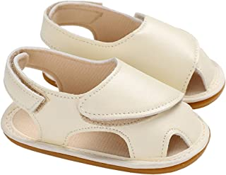 Infant Baby Summer Beach Walking Flat Sandals Non-Slip First Walkers Crib Shoes