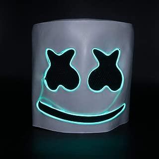 Luminous Helmet Mask Cosplay Prop Halloween Mask Full Face Cosplay Prop Halloween Party Bar Music Masks - Green