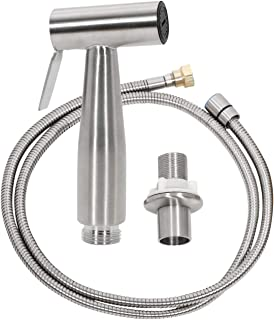 Kitchen Sprayer Set Easy Hand Washing Kitchen Faucet Side Sprayer Head and Hose Assembly (Standard Stainless Steel Sprayer) by CLEESINK