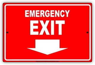 LHZJ Fashionable Metal Tin Sign Exit Right Arrow Wall Decor Sign 8x12 Inches