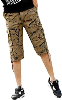 Beeatree Mens Casual with Pockets Below Knee Sports Cargo Shorts Pant