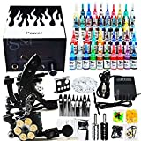OUkANING Principiante Completa Kit de Tatuaje 2 Tattoo Máquinas 40 Color Tattoo Inks 50 sterile Tattoo Needles