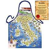Italienisch Kochen - la Cucina Italiana Grembiule mit Schürze: Italian Map - Schürze Mediterrane Küche