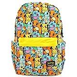 Loungefly x Pokemon Starters All Over Print Nylon Backpack (One Size, Yellow/Orange/Blue Multi)