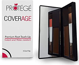 Premium Root Touch Up - CoverAge - Instant Temporary Root Concealer to Cover Up Roots and Grays Between Salon Trips - Water Resistant - Color Roots like Magic Without Spray - Brown
