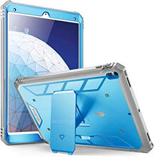 iPad Air 3 (10.5 Inch 2019) Case, iPad Pro 10.5 Case, Poetic Heavy Duty Full Body Rugged Shock Proof Case Cover with Kickstand and Built-in Screen Protector for Apple iPad Air 3rd Generation, Blue