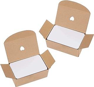 ISIYINER Blanko Papier Karten 200 Stück Mitteilungs-Karte Memory Wort Karten für Schule Home Office Supply