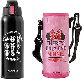 アイリスオーヤマ 水筒 ディズニー ミニー 1L ワンタッチオープン 保冷専用 ピンク 女の子 男の子 子供 直飲み DDB-1000