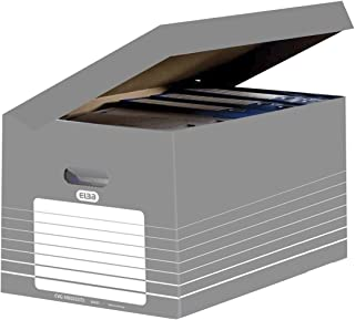 Elba 15164 Boîte Archive - Ouverture Dessus - Transport D'Archive - Gris