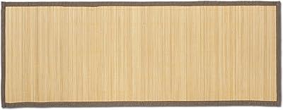 【竹キッチンマット・シンプル】程よいクッション性と通気性 45×120cm ベージュ 滑り止め 1511017122002