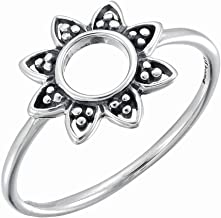 Boma Jewelry Sterling Silver Balinese Style Sunflower Ring