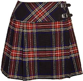 5ccfc43ede8 Neuf Noir pour Femmes Motif Tartan Écossais Rouge Écossais Mini Billie Kilt  Mod Jupe Tailles 6