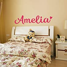 Personalized Custom Name Vinyl Wall Decal Sticker for Girls